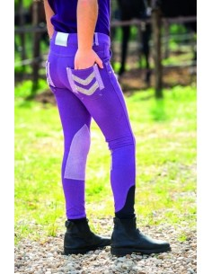 Horseware Kids Denim Breeches Purple