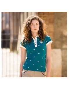Horseware Ladies Ashlinn Print Polo Top