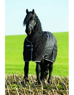 Horseware Rambo Stable Rug 200g Medium Black & Silver