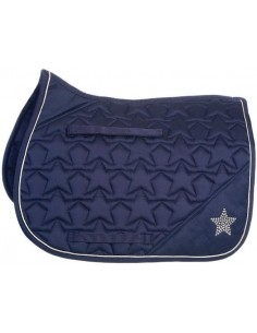 HySPEED Deluxe Saddle Pad with Cord Binding Navy Star full