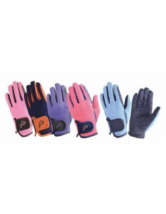 Hy5 Everyday Two Tone Riding Gloves black pink front