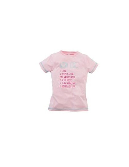 Harry Hall Wish List Junior T Shirt Pink