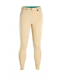 Caldene Aintree Mid Waist Self Fabric Knee Ladies Breeches beige