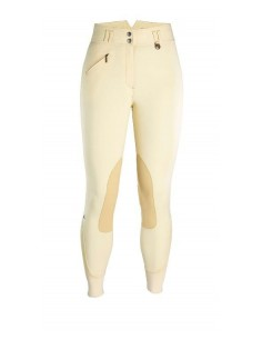 Caldene Hartpury High Waist Suede Knee Ladies Breeches beige