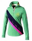 Tottie Chloe Ladies Polo Top Navy green
