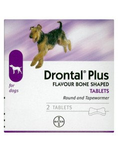 Drontal Plus Dog Wormer - 2 Tablet Pack