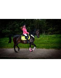 Harry Hall Hi Viz Neoprene Lining Visibility Safety Fluorescent Overreach Boots