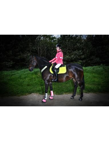 Harry Hall Hi Viz Neoprene Lined Reflective Wrap Boot Horse Visibility /& Safety