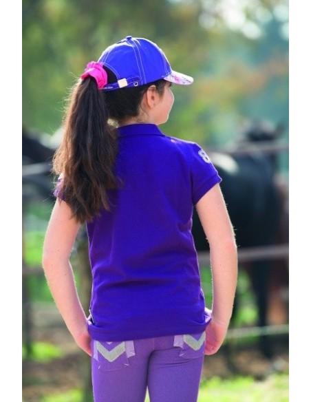 Horseware Kids Denim Breeches Purple Rear