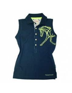 Horseware Flamboro Sleeveless Polo Top Navy plain