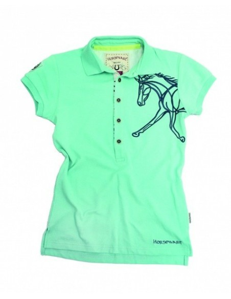 Horseware Flamboro Polo Shirt aruba blue
