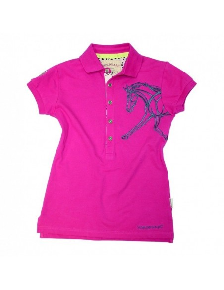 Horseware Flamboro Polo Shirt fuschia