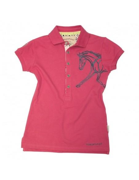 Horseware Flamboro Polo Shirt plum red