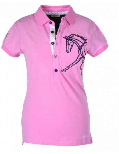 Horseware Flamboro Polo Shirt Blush Pink