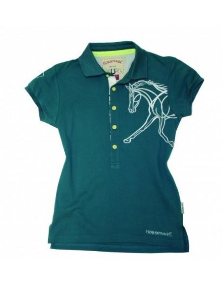 Horseware Flamboro Polo Shirt Folkestone Blue