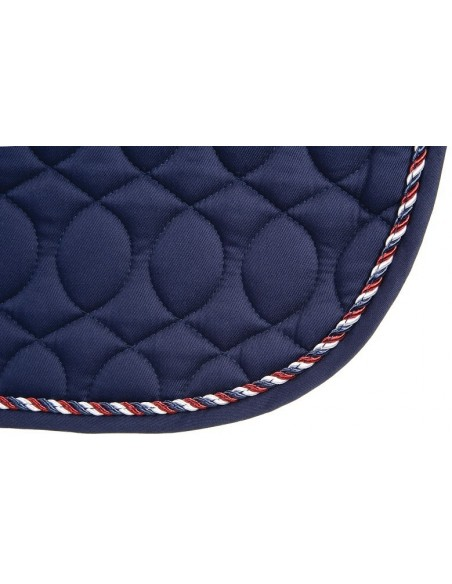 HySPEED Deluxe Saddle Pad with Cord Binding  Navy Edge