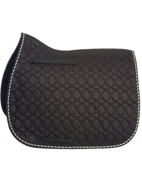 HySPEED Deluxe Saddle Pad with Cord Binding Black Full