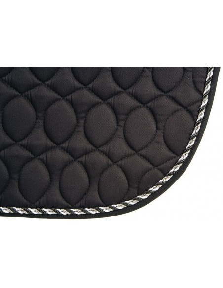 HySPEED Deluxe Saddle Pad with Cord Binding Black Edge