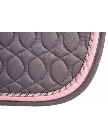 HySPEED Deluxe Saddle Pad with Cord Binding grey edge
