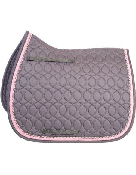 HySPEED Deluxe Saddle Pad with Cord Binding grey full