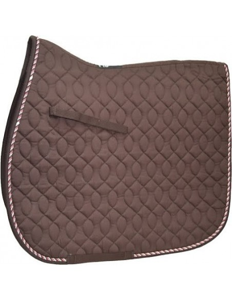 HySPEED Deluxe Saddle Pad with Cord Binding Chocolate
