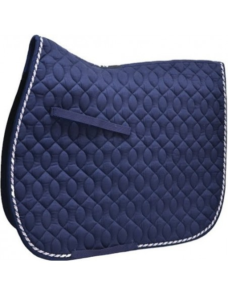 HySPEED Deluxe Saddle Pad with Cord Binding Navy full