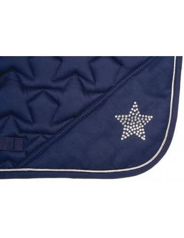HySPEED Deluxe Saddle Pad with Cord Binding Navy star edge