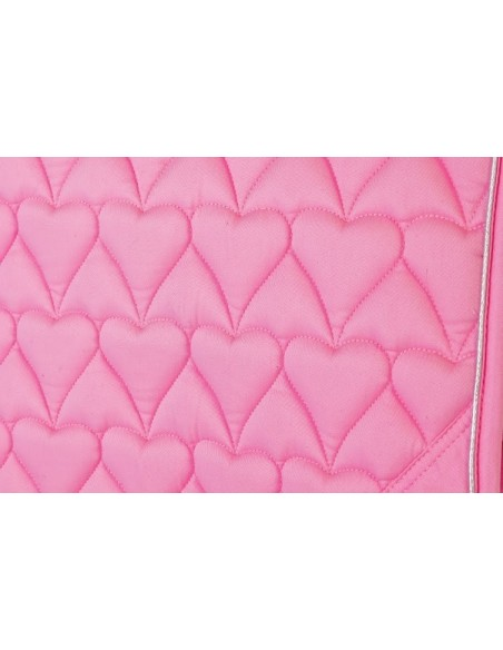 HySPEED Deluxe Saddle Pad with Cord Binding Pink heart full
