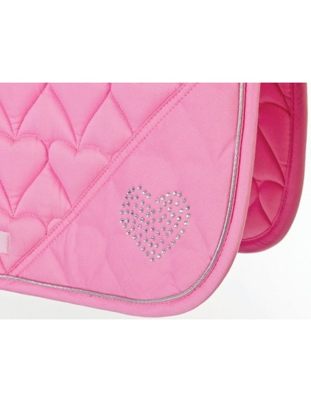 HySPEED Deluxe Saddle Pad with Cord Binding Pink Heart side