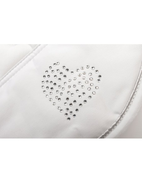 HySPEED Deluxe Saddle Pad with Cord Binding white heart edge
