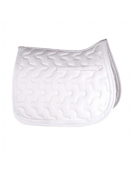 HySPEED Diamante Trim Saddle Cloth White