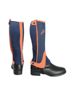 Hy Two Tone Amara Half Chaps Navy/Orange