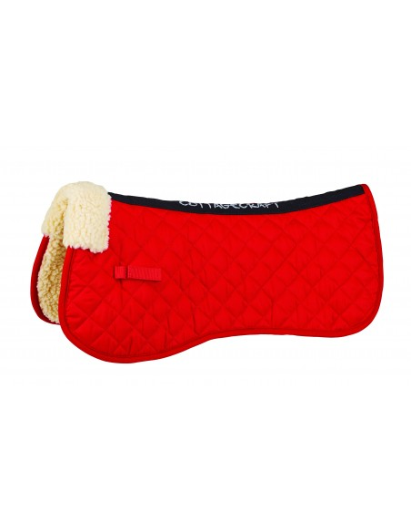 Cottage Craft Synthetic Fleece Lined Half Pad Red