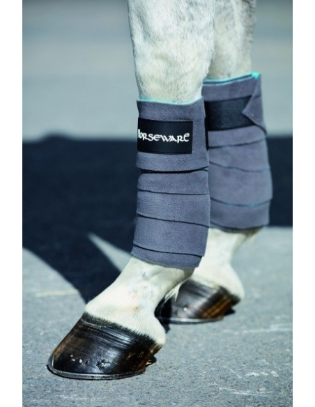Horseware Fleece Bandaged Charcoal aqua