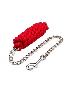 Classic Lead rope with chain  red