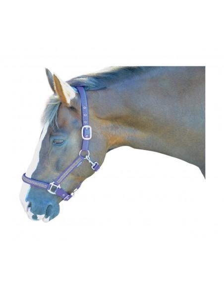 Hy Diamante Head Collar Blue
