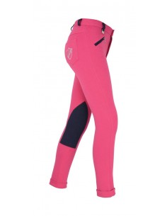 HyPERFORMANCE Belton Children's Jodhpurs pink navy side