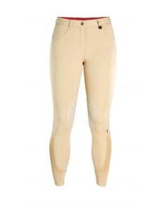 Caldene Derby Low Waist Silicone Knee Ladies Breeches beige