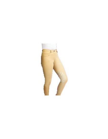 Caldene Derby Low Waist Silicone Knee Ladies Breeches yellow