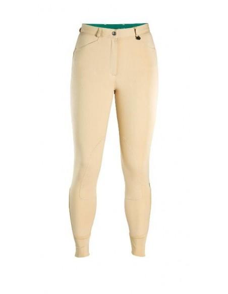 Caldene Aintree Mid Waist Self Fabric Knee Ladies Breeches beige