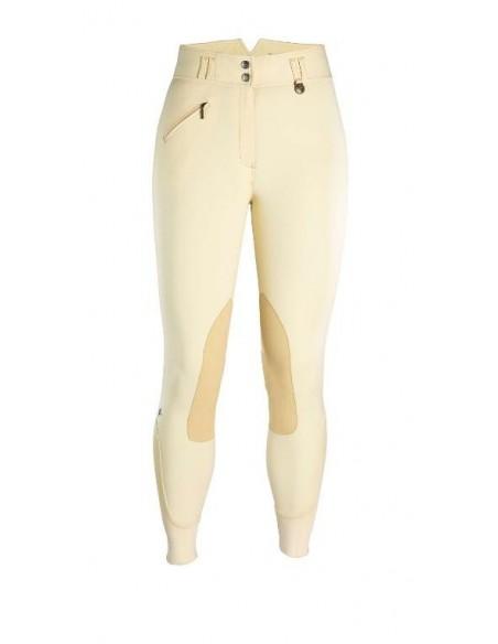 Caldene Hartpury High Waist Suede Knee Ladies Breeches beige