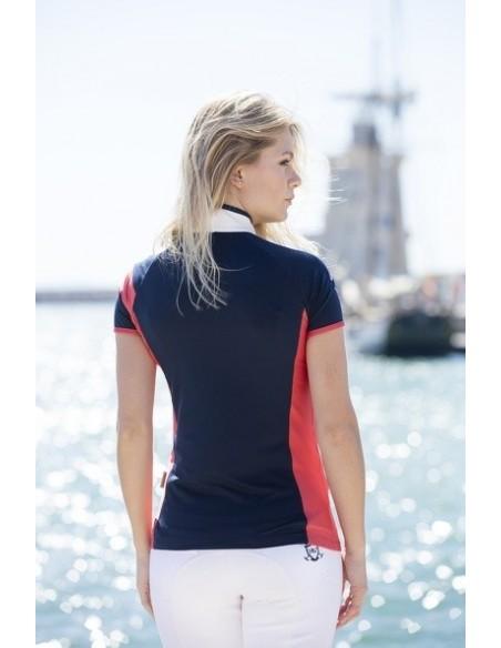 Eda SportyTechnical Ladies Polo Navy back 1