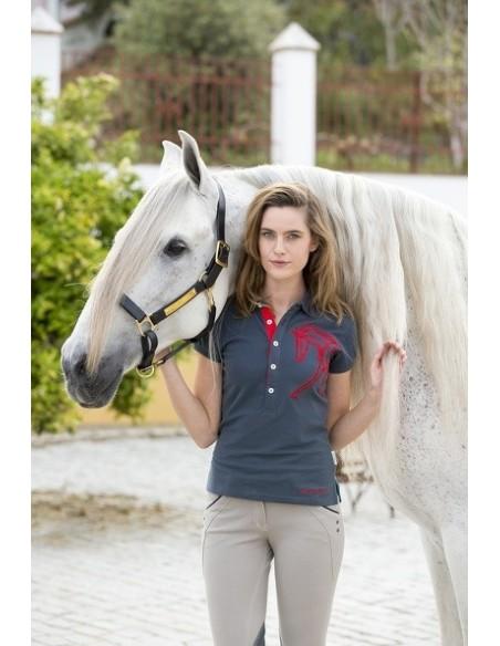 Horseware Ladies Flamboro Polo Shirt charcoal front