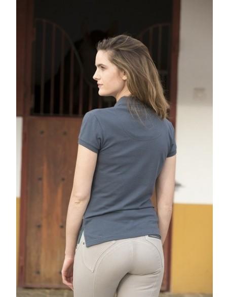 Horseware Ladies Flamboro Polo Shirt charcoal back