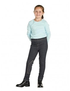 Harry Hall Childs Jegging Jodhpurs Black Denim front