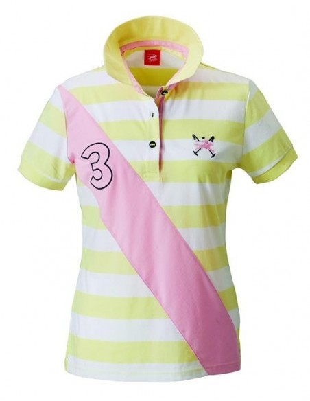 Tottie Robin Ladies Polo Top Lemon