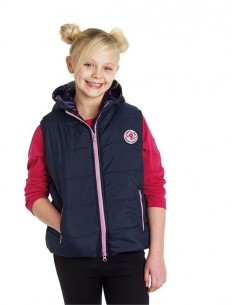 Harry Hall Junior Bedale Quilted Gilet navy