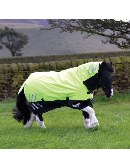 Masta HI Viz 200g Fixed Neck Turnout Rug  side 1