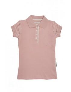 Horseware Kids Pique Polo Top pink plain