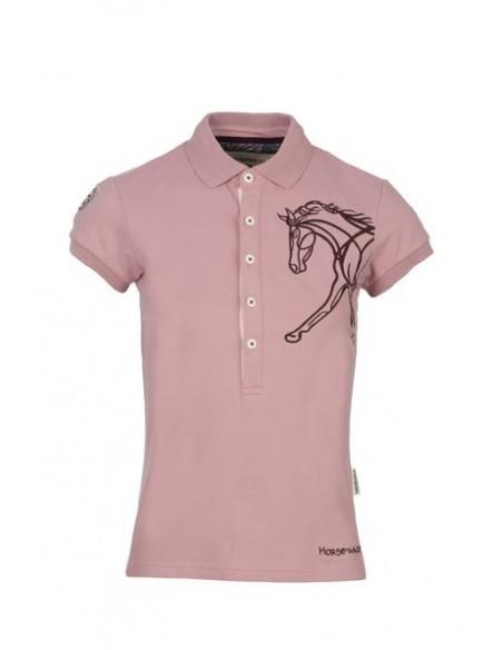Horseware Flamboro Polo Shirt  vintage pink front